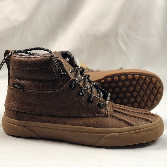 6d960f2208 Vans SK8 Hi Del Pato MTE Brown Feather Gum.